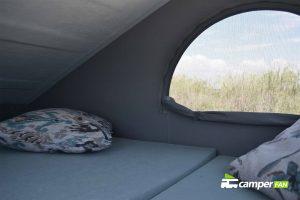 Cama en techo elevable Camperfan
