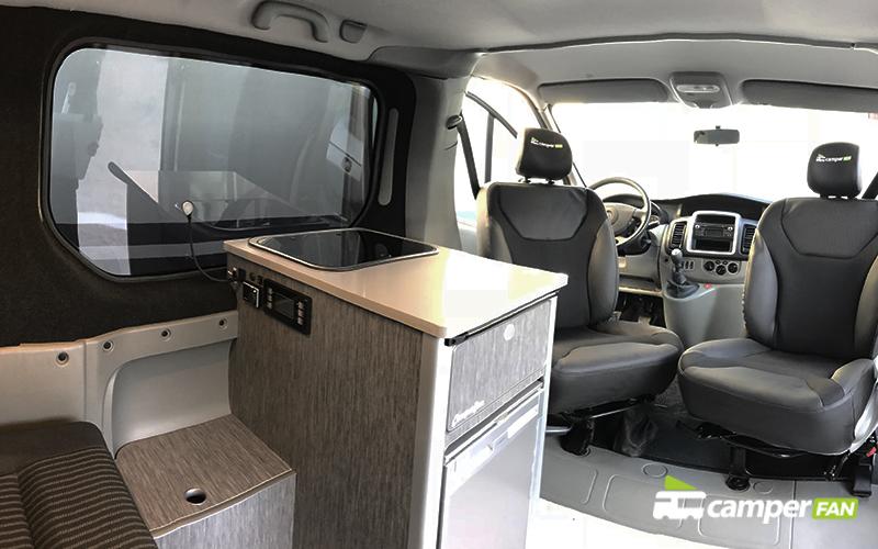 Vista interior camper Opel Vivaro L2H1